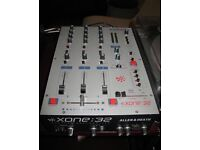Allen and Heath Xone 32 mixer (3 channel) full working order and in very good condition.