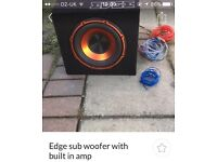 Edge subwoofer and built in amp