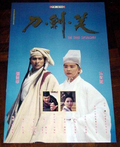 "Andy Lau Tak-Wah ""The Three Swordsmen"" Brigitte Lin HK 1994 POSTER 劉德華 刀劍笑 電影海報"