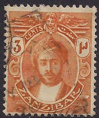 Zanzibar 1921 - 29 KGV 3ct Sultan Khalifa Bin Harub used SG 278 ( B1138 )