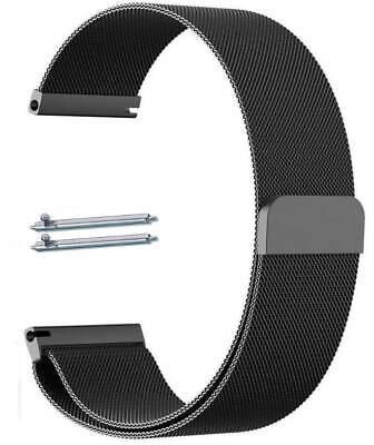 Black Magnetic Clasp Metal Steel Mesh Milanese Bracelet Watch Band Strap #5042 Black Mesh Bracelet Watch