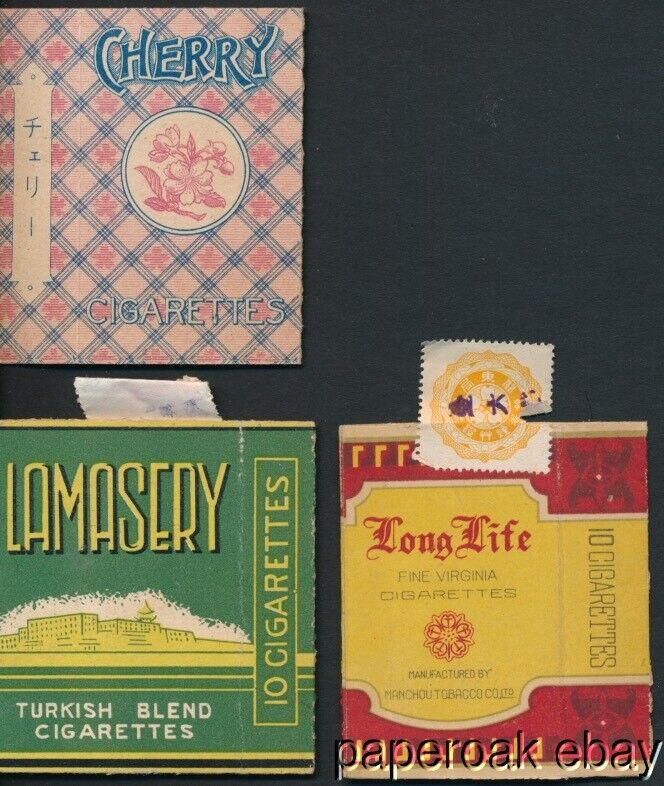 ca1930 Two Chinese & One Japanese Cigarette Boxes