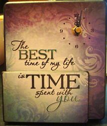 Wall or Desk Clock by Carson Home Accents--The Best Time of My Life  #12010