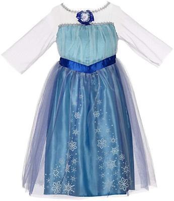 Fancy Halloween Frozen  Elsa Costume Girl Cosplay Party Dress Up Disney size 4-6](Disney Frozen Halloween Costumes)