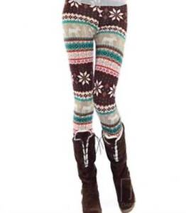Womens Retro Knitted Warm Tights Snowflakes Winter Leggings Modbury Heights Tea Tree Gully Area Preview