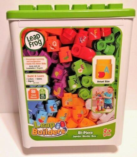 Leapfrog LeapBuilders 81-Pc Jumbo Blocks Box.