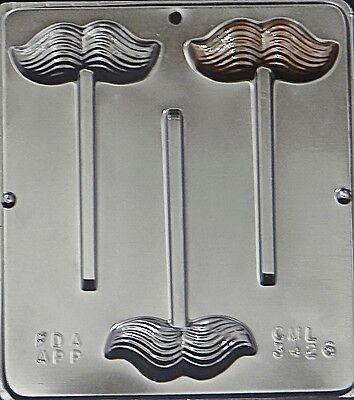 Mustache Lollipop Chocolate Candy Mold Moustache 3426 NEW