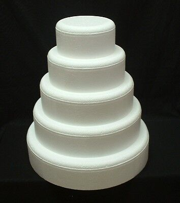 5pc CAKE DUMMY set w/round edges 4