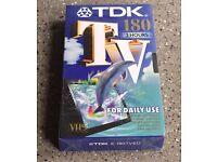 TDK TV180 VHS video tape brand new sealed item