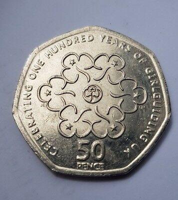 50p Girlguiding Fifty Pence Coin