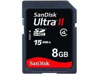 SanDisk Ultra II 8GB SD SDHC Memory Card