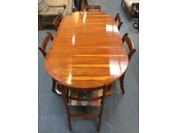 Polished Yew Dining Room Furniture FREE GLASGOW DELIVERY