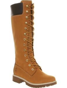 Ladies Timberland tall 14 inch nubuck leather lace up boots 6.5