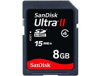 SanDisk Ultra II 8GB SD SDHC Memory Card C4 ~15MB/s