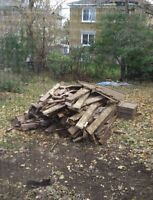 Free wood from large deck.