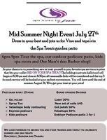Mid Summer Night Event (Spa open house , everyone welcome!)