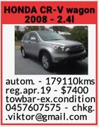 2008 Honda CR-V SUV North Ward Townsville City Preview