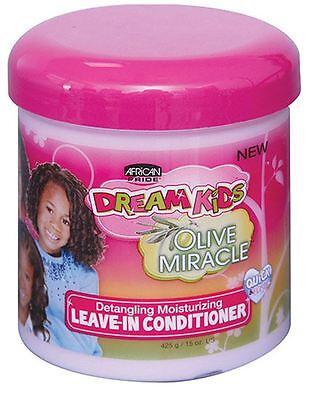 African Pride Dream Kids Olive Miracle Leave-In Conditioner, 15 oz African Pride Leave In Conditioner