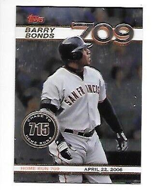 BARRY BONDS 2006 Topps Chrome Chase to 715 #BBC10  #709 SAN FRANCISCO GIANTS
