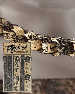 Bethany Lowe Halloween Poison Paper Chain Garland Kit—retired