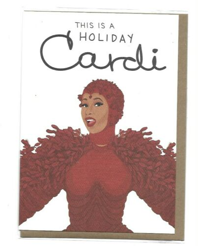 Cardi B Card This Is A Holiday Cardi NEW