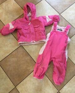 columbia 2t girls snowsuit