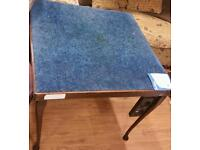 Vintage card table .. one counter tray missing