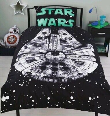 Film Star Wars SINGLE Duvet Quilt Cover SET with Pillow Case Bedding New