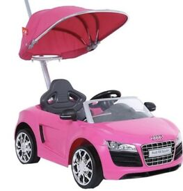 Audi r8 baby ride buggy push car