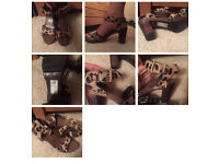 River Island brown sandals size 6
