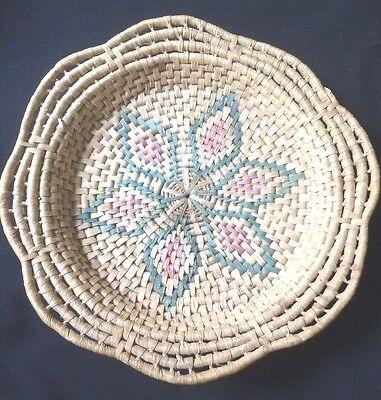 Vintage Woven Fruit Basket 15 Inch