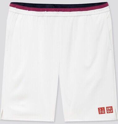 Uniqlo Size XL Roger Federer White Tennis Shorts BNWT Australian Open 2020 New