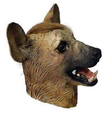 Deluxe Hyäne Maske Wild Hund Tier Ganzer Kopf Latex Kostüm Halloween Wolf