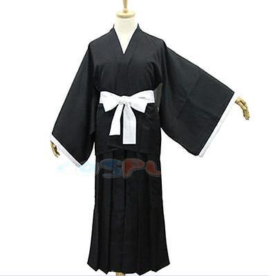 HOT Bleach Kurosaki Ichigo Kuchiki Rukia Soul Reaper Uniform Cosplay Costume (Reaper Cosplay)