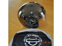Genuine Harley Davidson Polished Chrome Helmet
