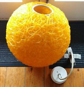 Large Vintage Mid Century Orange Spagetti Lamp Footscray Maribyrnong Area Preview