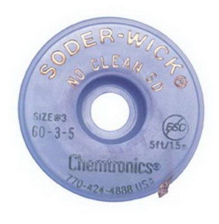 Chemtronics 60-3-5 Soder-Wick No Clean SD Desoldering Braid