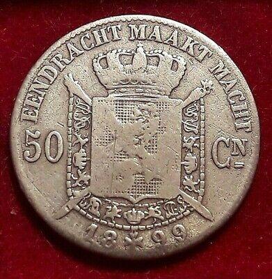 50 centimes Cents 1899, LEOPOLD II Belgique Belgïe NL