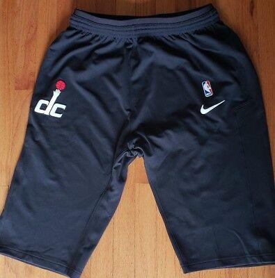 Nike Nba Washington Wizards Pregame Shorts Mens Large Black Nwt Authentic