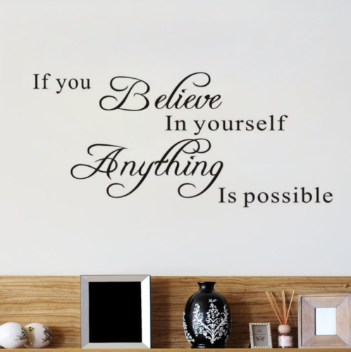 Vinyl Home Room Decor Art Quote Wall Decal Stickers Bedroom Removable Mural DIY