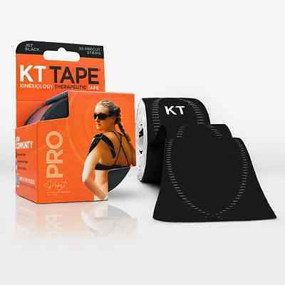 New KT Tape PRO Synthetic 20 Strip Pack Jet Black Kinesiology Tape on Rummage