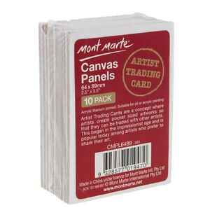 Mont Marte Artist Trading Card Canvas Panels 1- Pack - 64 x 89 mm - CMPL6489