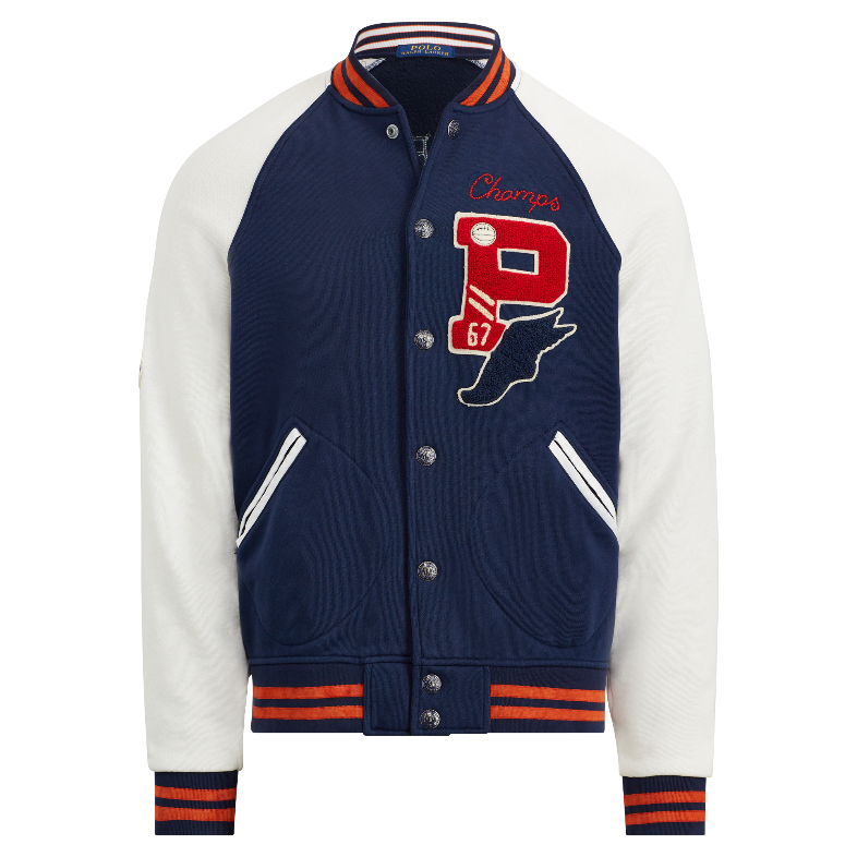 c911f9a3 Details about Mens Polo Ralph Lauren Patch P Wing Baseball Bulldog Varsity  Stadium Jacket