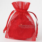 Red Wedding Favor Bags