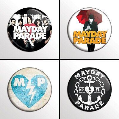"4-Piece MAYDAY PARADE 1"" Band Pinback Buttons / Pins / Badges Set"