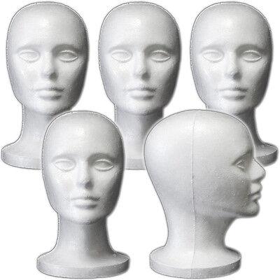 Mn-408 5 Pcs Female Styrofoam Mannequin Head