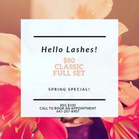 Classic Lashes for $80