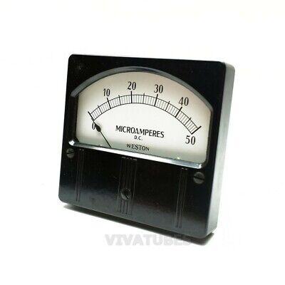Vint. Weston Rectangle Dc Microamperes Volt Panel Meter 0-50 Ua Range 4 14