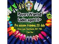 Sandwell Ladies are looking for players!