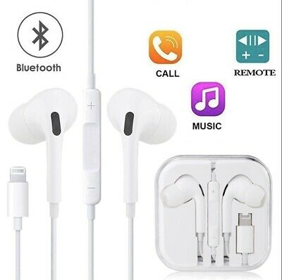 Bluetooth Lightning Headphones For iPhone X Xs/Max 7 8 Plus Earphone Mic UK